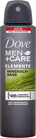 Dove Elements Minerals & Sage Men+ Care Deodorant ve spreji pro muže 150 ml